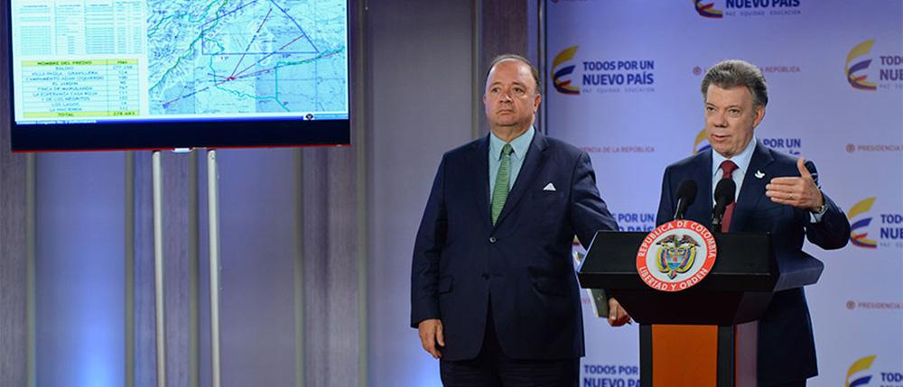 Ministro de Defensa, Luis Carlos Villegas.