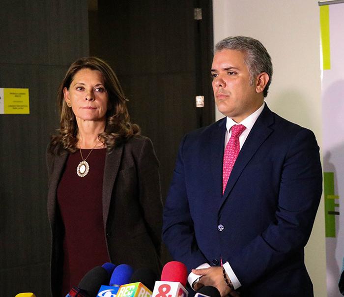 Presidente y Vicepresidenta electos, Iván Duque y Marta Lucía Ramírez.