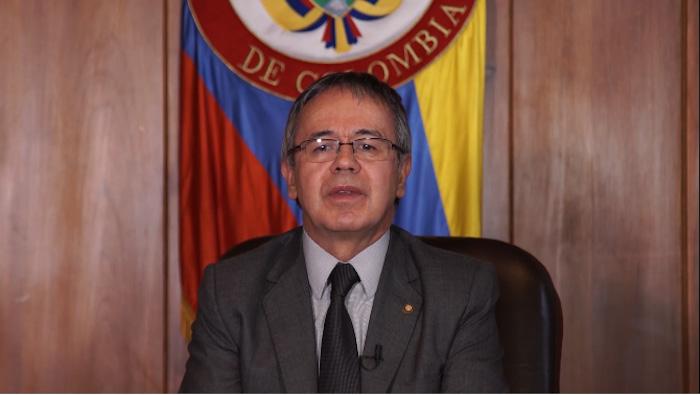 Magistrado Luis Antonio Hernández, quién dió el anuncio de la citación a indagatoria a Uribe y Prada.