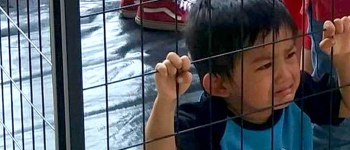 Niños en la frontera estadounidense.