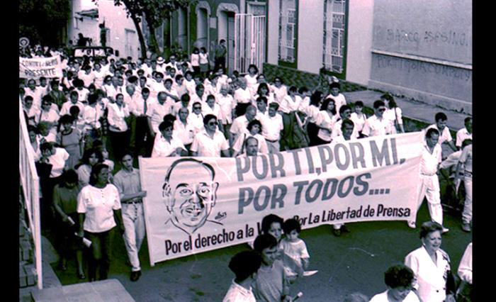 Protestas históricas por el derecho a la libre expresión.