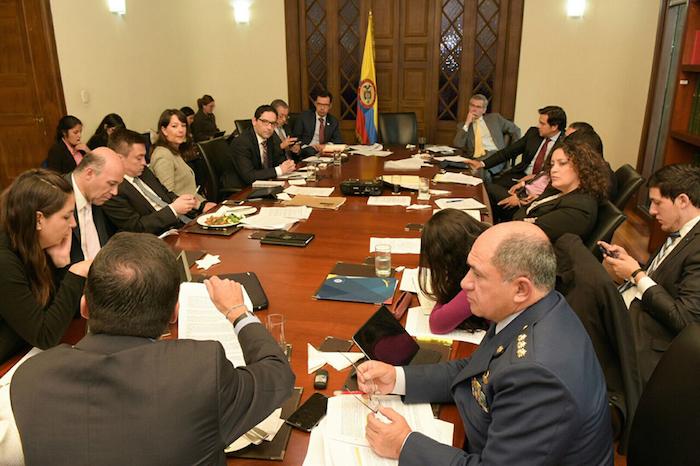 Reunión de la Jurisdicción Especial para la Paz.