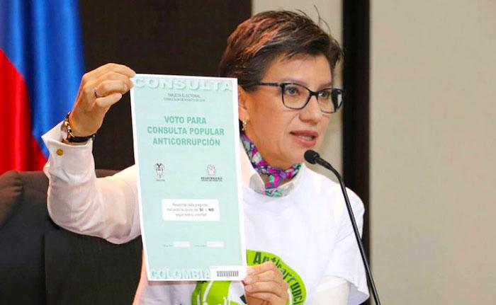 Promotora de la Consulta Anticorrupción, Claudia López.