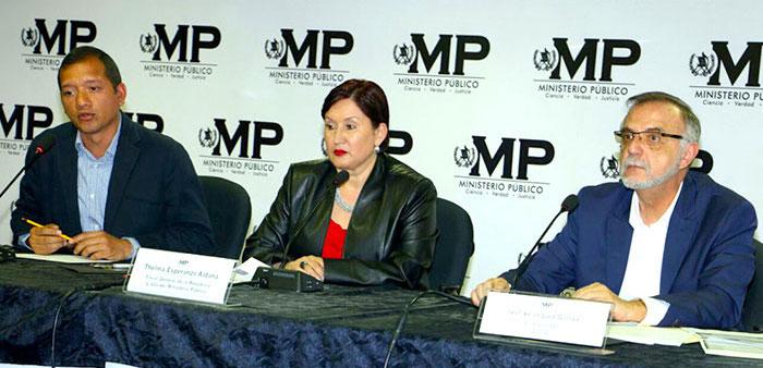 Captura de ministros en Guatemala por casos de corrupción.