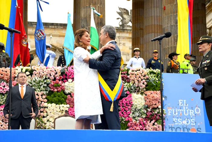 Marta Lucía Ramírez e Iván Duque.