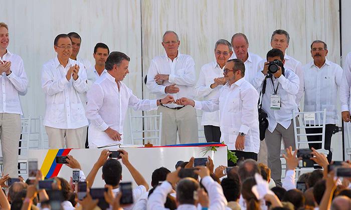 Firma de los Acuerdos de Paz con las FARC