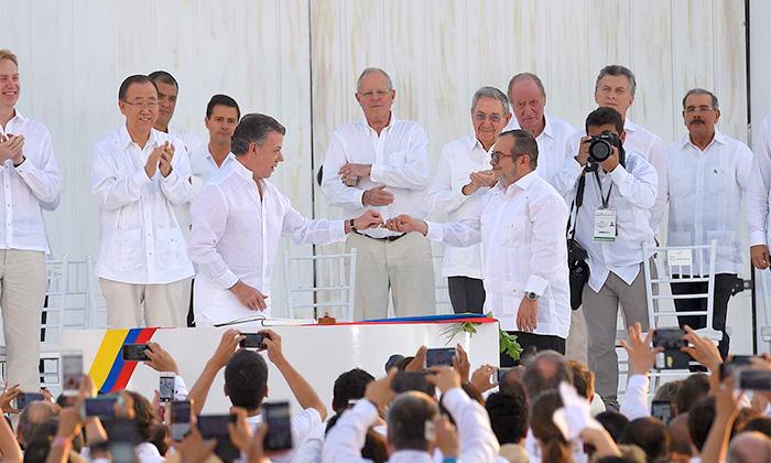 Firma de los Acuerdos de Paz con las FARC.