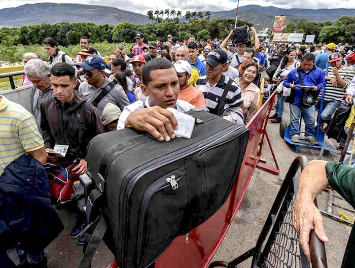 Migración de personas venezolanas hacia Colombia.