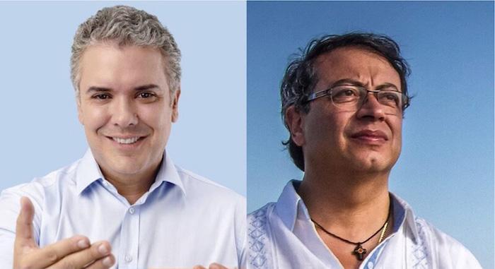 Candidatos presidenciales en segunda vuelta, Iván Duque y Gustavo Petro.