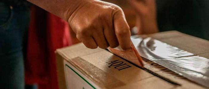 Votaciones en Bogotá.