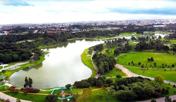 Zonas verdes en Bogotá