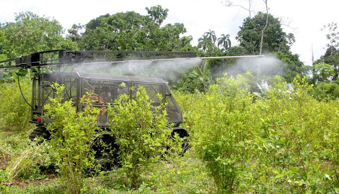 Erradicación forzosa de cultivos de coca.