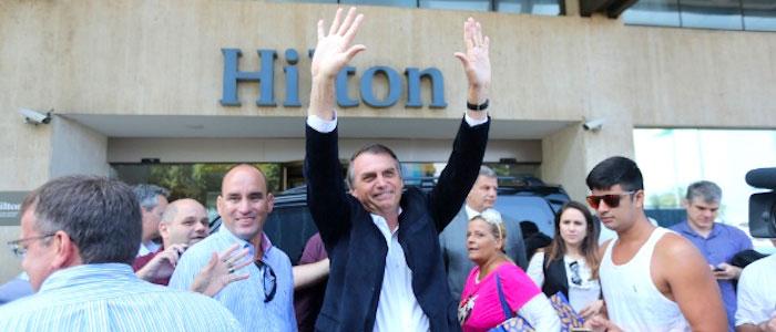 Jair Bolsonaro, candidato de extrema derecha.