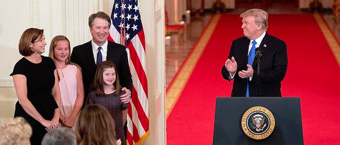 Trump y Familia Kavanaugh