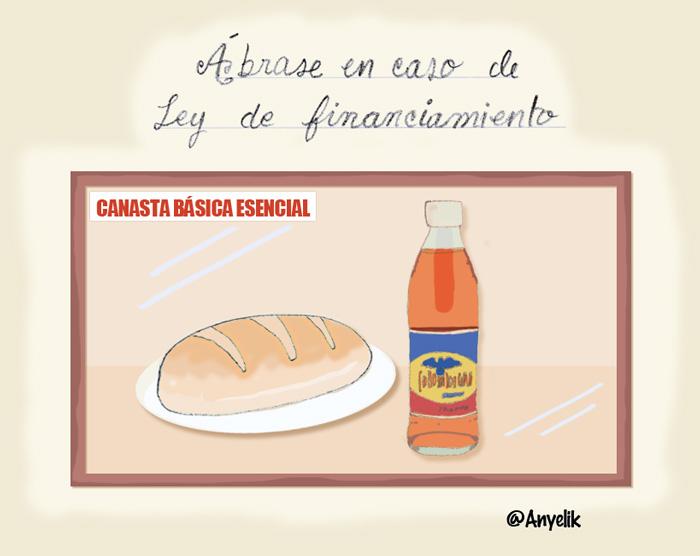 Canasta básica esencial: un pan y una colombiana