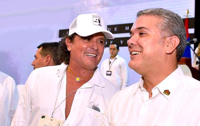 Iván Duque y Carlos Vives. Vives.