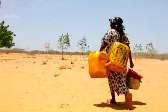 Sequías por cambio climático.