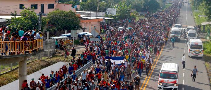 Caravana de migrantes.