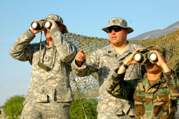 Militares en la frontera
