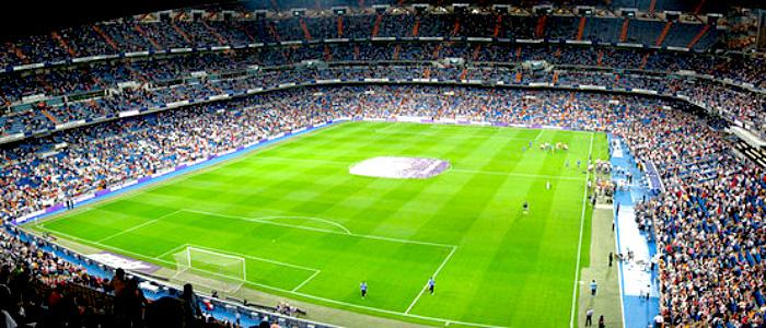 Estadio Santiago Bernabéu, donde se jugó la final de la Copa Libertadores 2018.