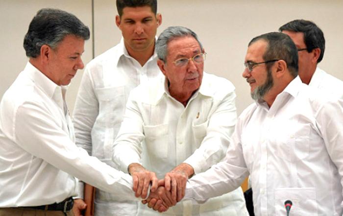 Negociación acuerdo de paz en La Habana, Cuba.