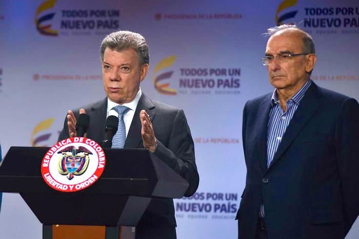 Juan Manuel Santos y Humberto de la Calle