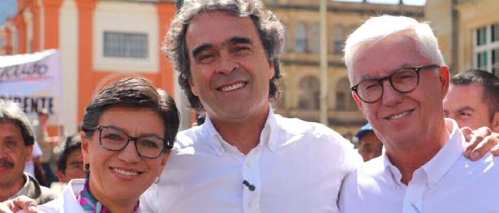 Sergio Fajardo, Claudia López y Jorge Robledo.