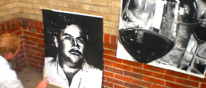 Retrato de Pablo Escobar.