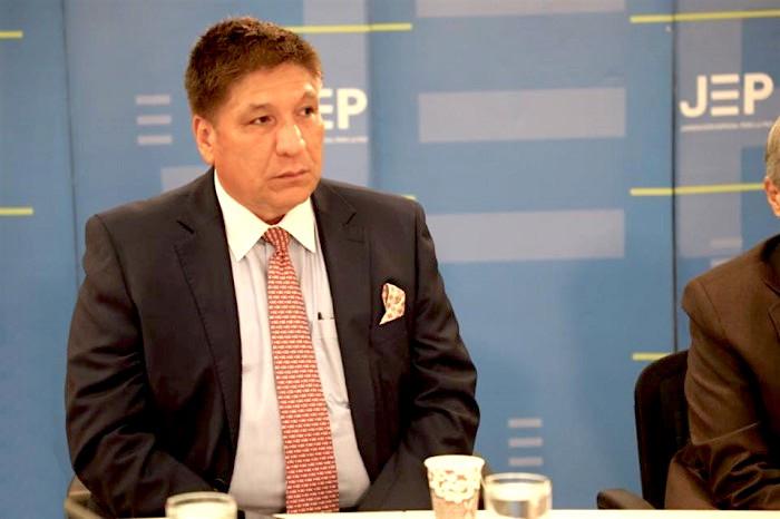 Sigifredo López contando su testimonio en audiencia de la JEP.