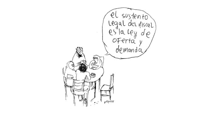 El sustento legal del fiscal es la ley de oferta y demanda