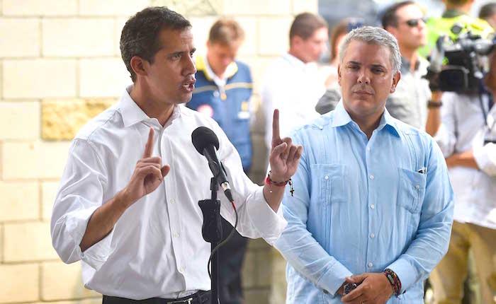 Guaidó e Iván Duque