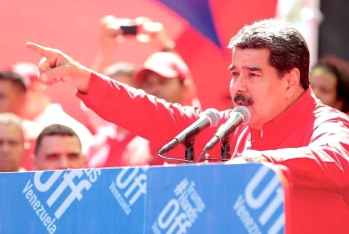 """Nicolás Maduro en el concierto que convocó """"Hands off Venezuela"""""""