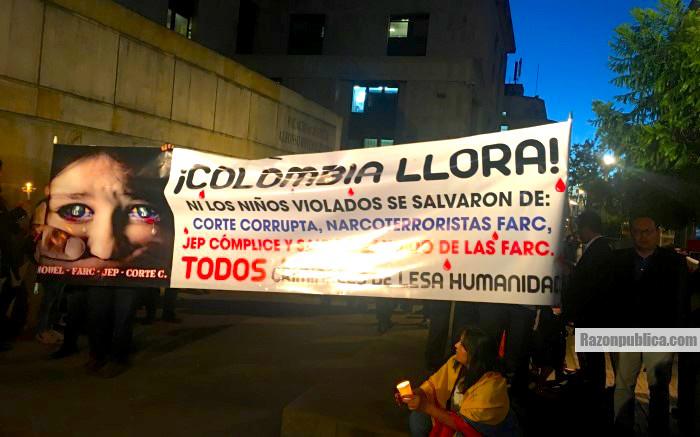 Marchas en contra de la inclusión de los delitos sexuales en contra de niños y niñas en la JEP.