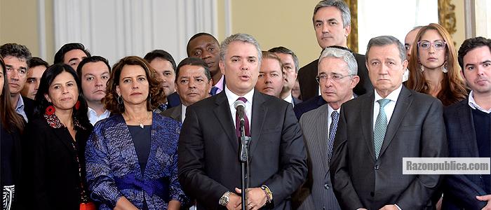 Reunión de Duque con el Centro Democrático