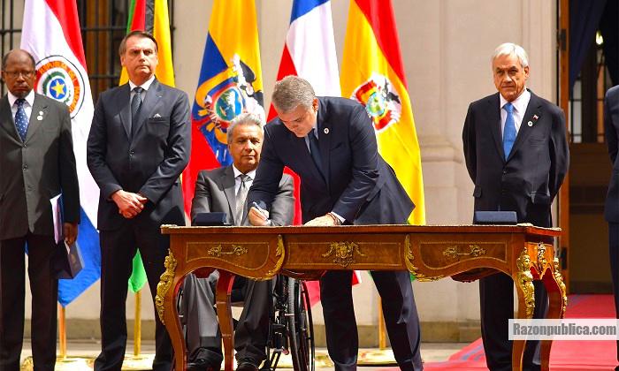 Visita del 22 de abril de Iván Duque a Chile.