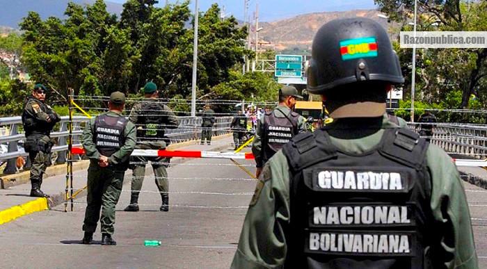 Guardia Nacional Bolivariana en la frontera con Colombia