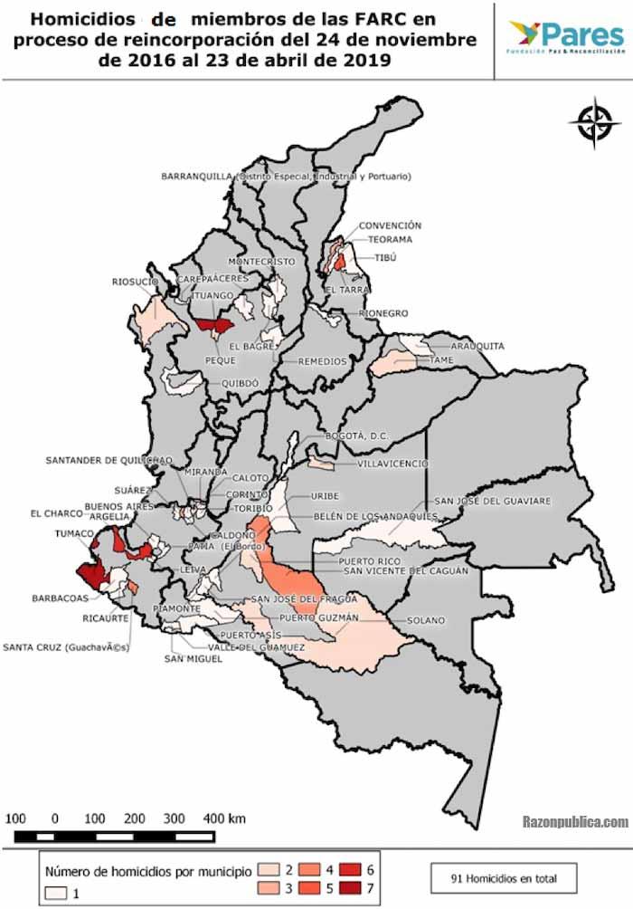 Homicidios de miembros de las FARC