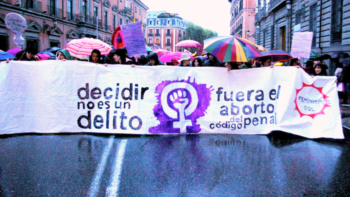 Manifestación en Madrid a favor de la despenalización.