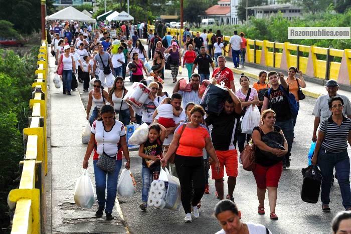 Migrantes en frontera colombia venezuela