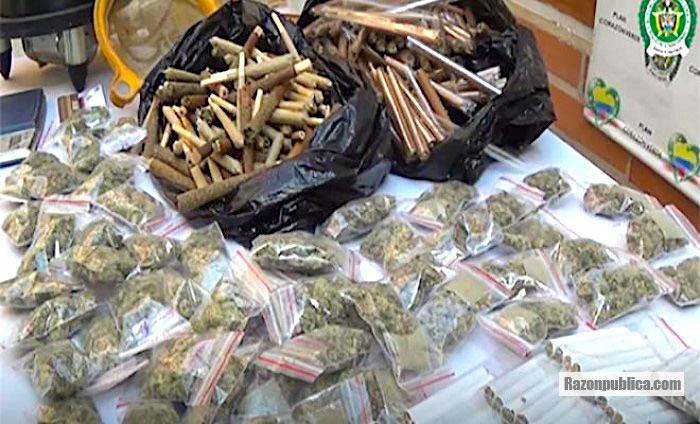 Incautación de estupefacientes hecha por la policía.