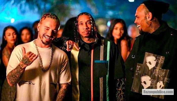 J Balvin, Tyga y Chris Brown