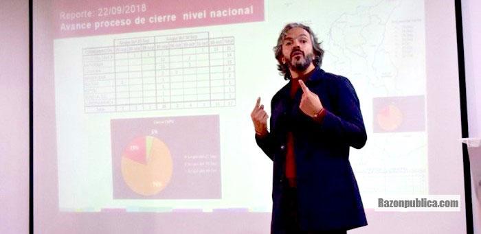Juan Daniel Oviedo, director del DANE, presentando los resultados del Censo 2018.