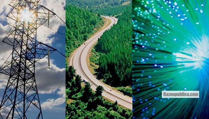 Ademas de redes electricas, ISA trabaja con infraestructura vial y telecomunicaciones.