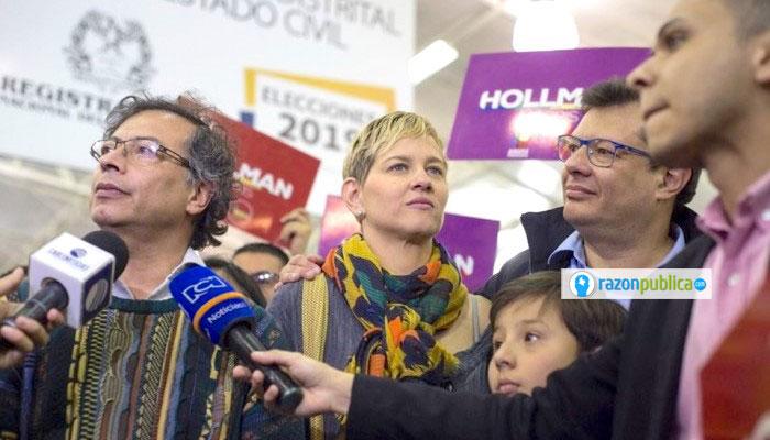 Hollman Morris anunciando formalmente el apoyo del MAIS y la Colombia Humana a su candidatura a la alcaldía de Bogotá