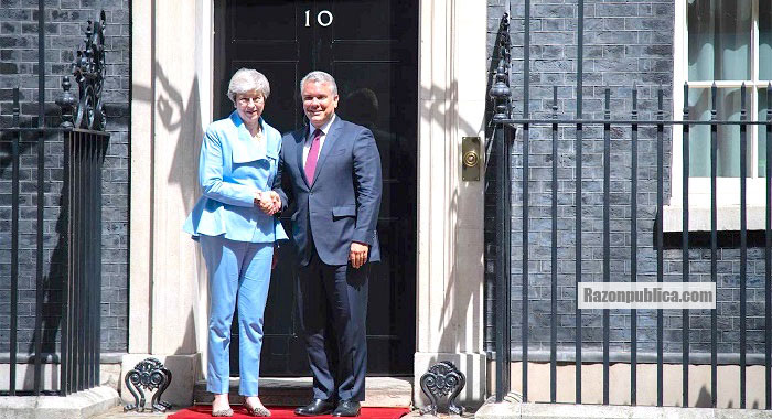 Iván Duque y Theresa May.