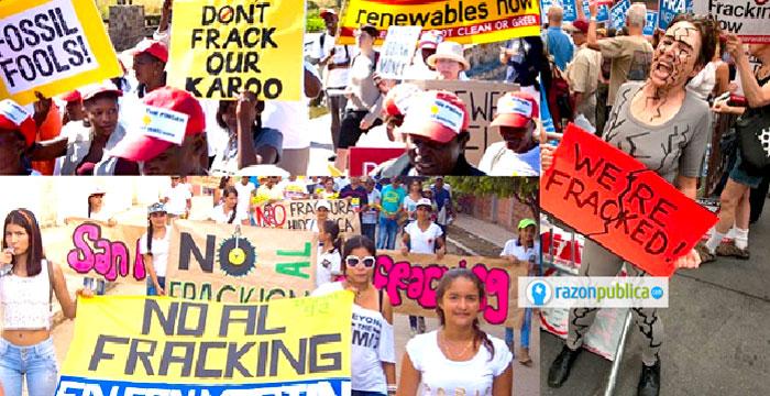 Manifestaciones contra el fracking en el mundo