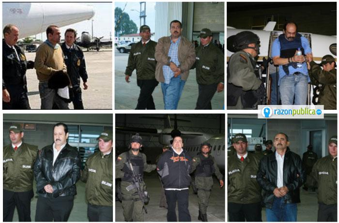 Poco después de la desmovilización paramilitar fueron extraditados 13 jefes paramilitares
