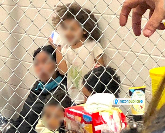 Niños en centro de detencion