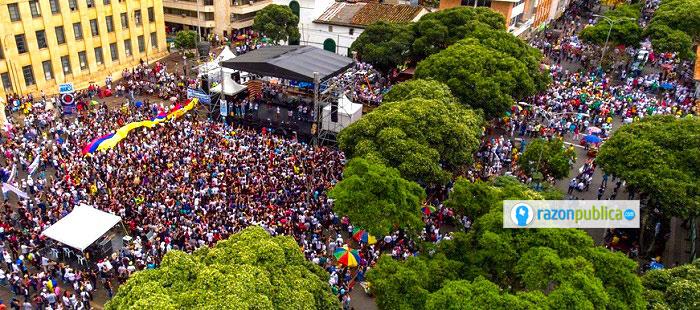 Manifestación en contra de la minería en Santurbán
