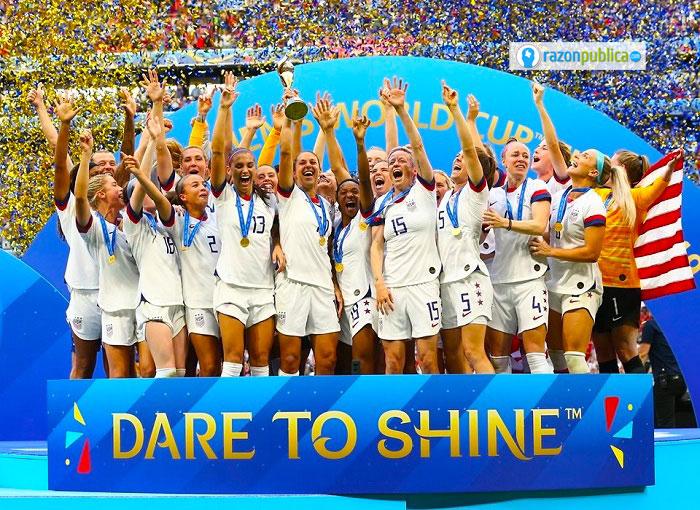 Las mujeres de la selección de Estados Unidos fueron las campeonas del mundial femenino de fútbol.